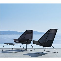 Cane-Line Breeze Highback Garden Lounge Chair Black