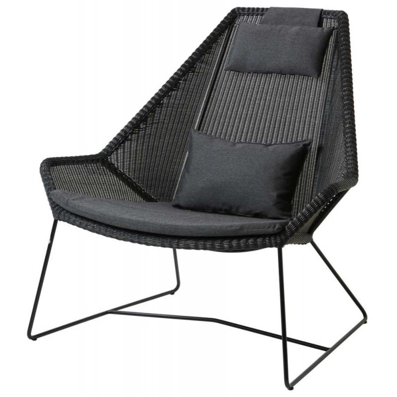 Cane-Line Breeze Highback Garden Lounge Chair Black