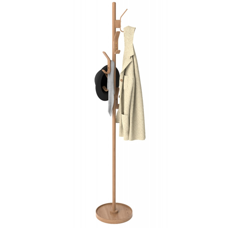Wireworks Right Hook Coat Stand Oak