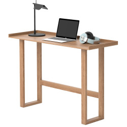 Wireworks Slim Laptop Writing Desk Oak
