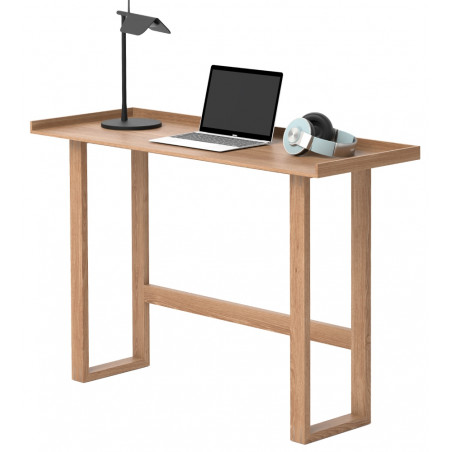 Wireworks Slim Laptop Writing Desk Oak