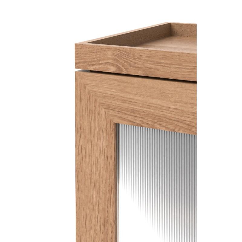Wirworks Mezza Tallboy Bathroom Storage Unit Oak