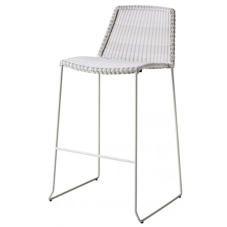 Cane-Line Breeze Outdoor Bar chair in White Grey
