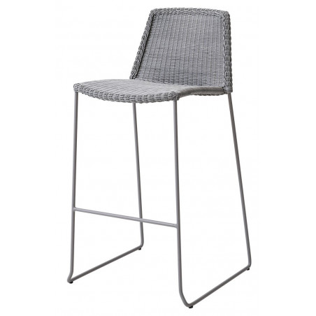 Cane-Line Breeze Bar chair in Light Grey