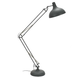 Stonehaven Spring and Lever Floor Lamp - Dark Grey