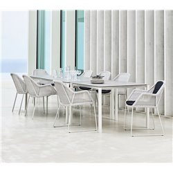 Cane-Line Breeze Outdoor Chair in White Grey