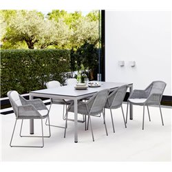 Cane-Line Breeze Outdoor Chair in Light Grey