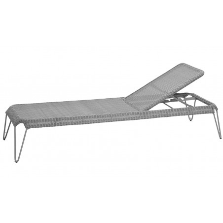 Cane-Line Breeze Outdoor Sunbed in Light Grey