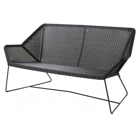 Cane-Line Breeze 2-Seater Outdoor Sofa in Black