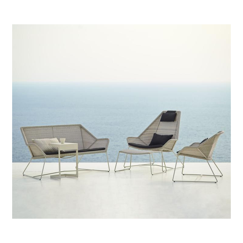 Cane-Line Breeze 2-Seater Outdoor Sofa in White Grey