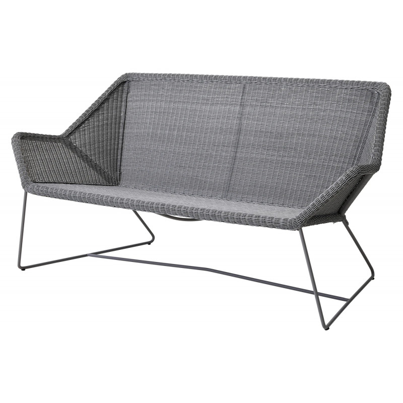 Cane-Line Breeze 2-Seater Outdoor Sofa in Light Grey