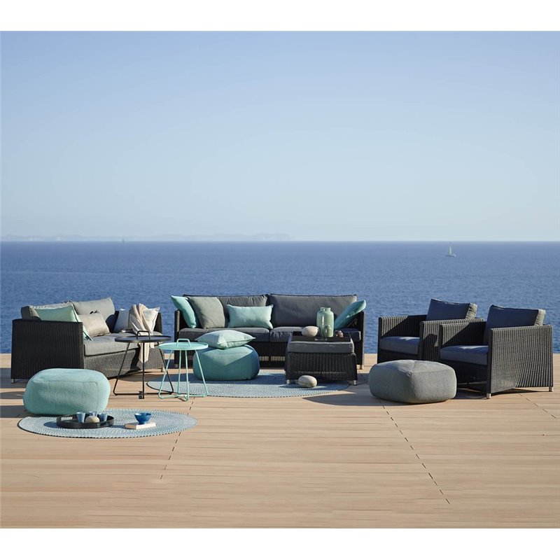 Cane-Line Diamond 2-seater Sofa | Weave Graphite