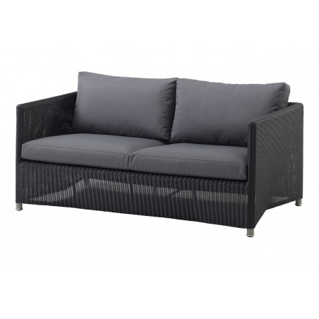 Cane-Line Diamond 2-seater Sofa | Weave Graphite