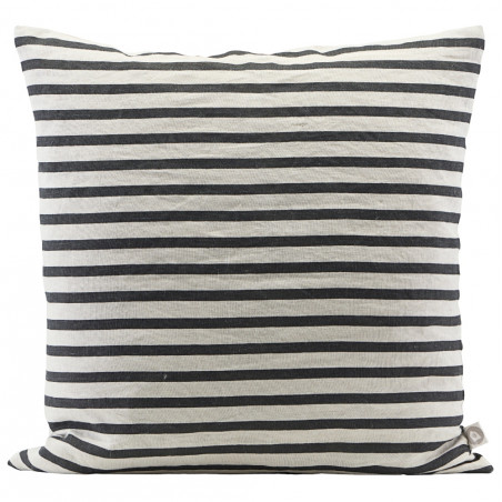 House Doctor Stripe Cushion Cover Black And Grey