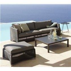 Cane-Line Diamond 3-seater Sofa in Weave Graphite