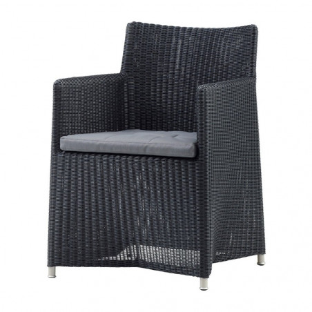 Cane-Line Diamond chair in Weave Graphite