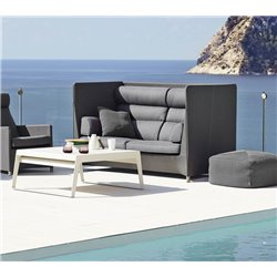 Cane-Line Diamond Highback 2-Seater Sofa in Natté Grey