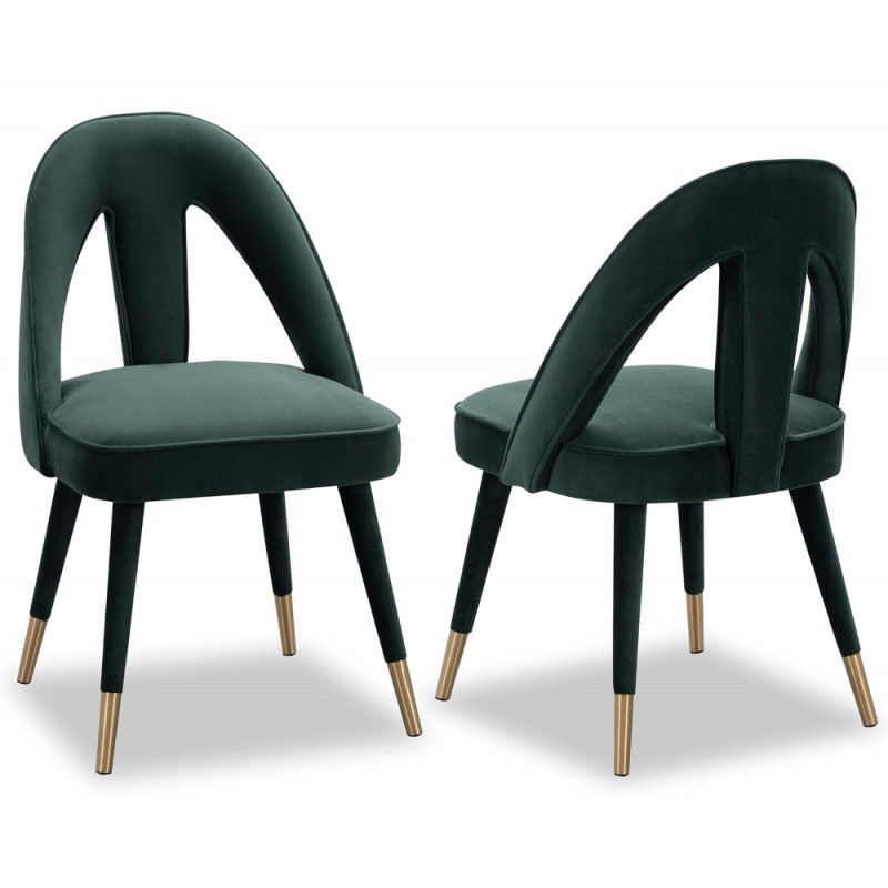 Liang & Eimil Pigalle Dining Chair in Kaster Green Velvet