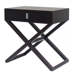 Bedside table in Wenge Wood finish and Solid Wood Legs