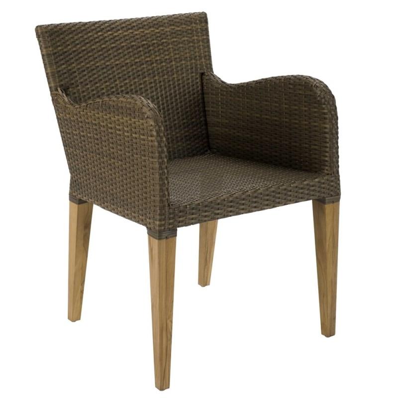 Tenby Summergrass Teak Rattan Outdoor Chair