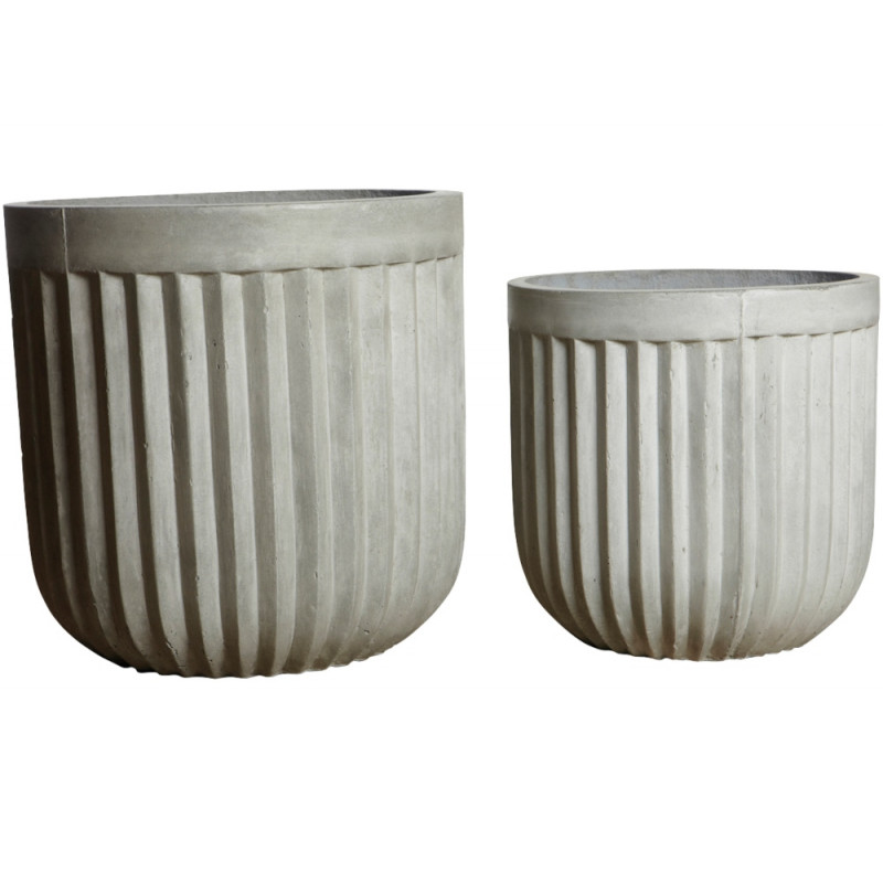 House Doctor Concrete Planters Light Grey
