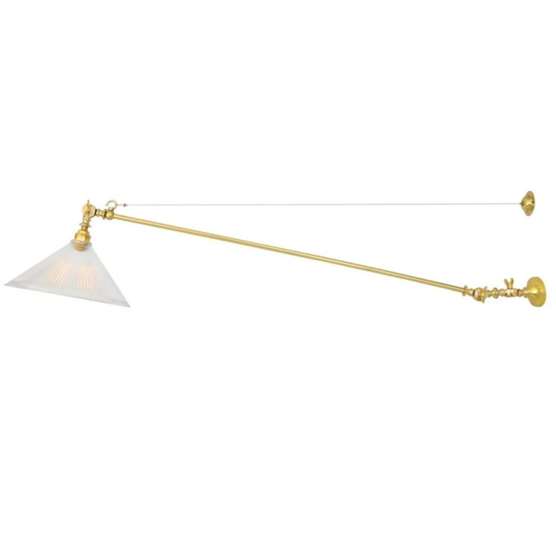 Mullan Lighting Nyx Adjustable Coolie Glass Wall Light