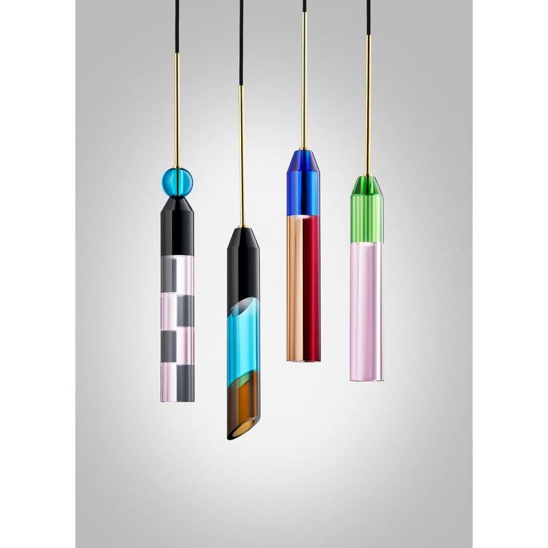 Design by Us Carnival Pendant Lamp Black Azure Brown