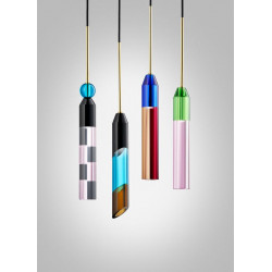Design by Us Carnival Pendant Lamp Rose Grey Black Azure