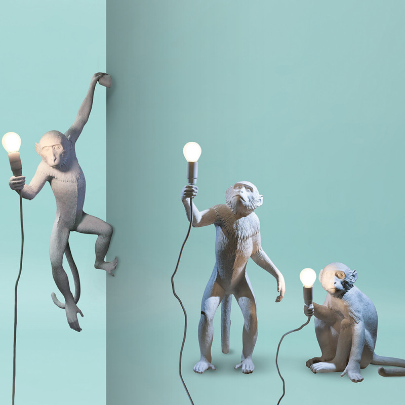 Seletti Monkey Lamp - Hanging - White