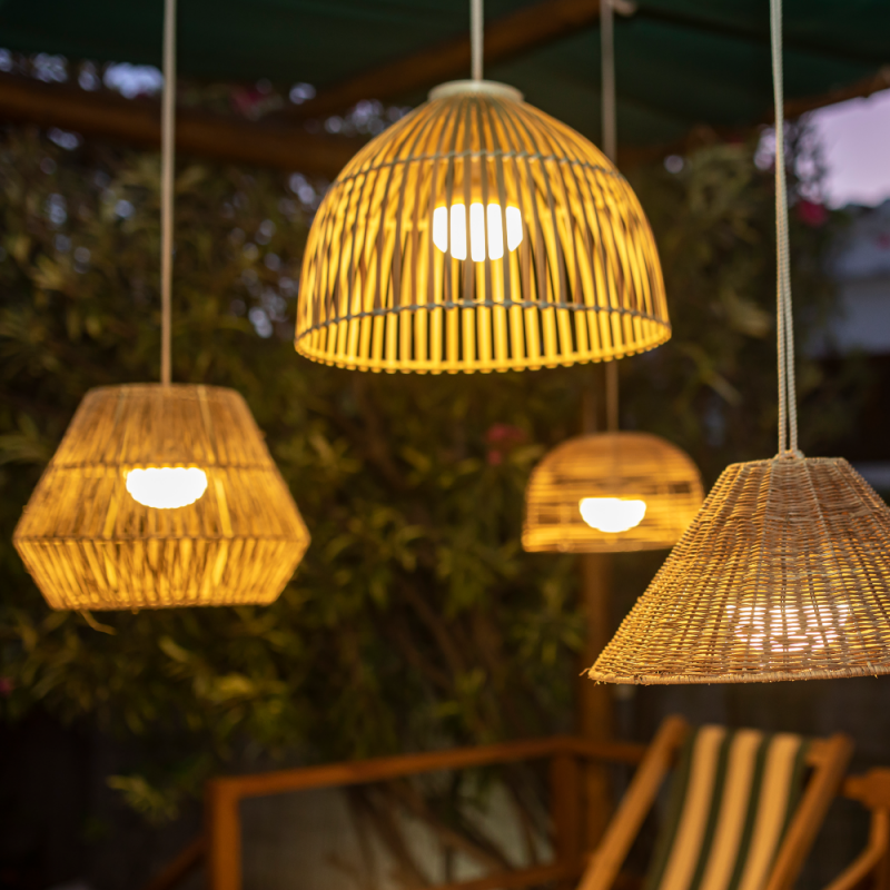 Bossa Outdoor Rechargeable Pendant Lamp