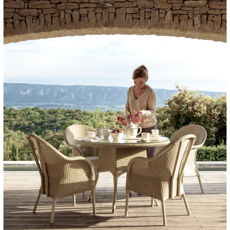 Vincent Sheppard Nimes Lloyd Loom Outdoor Dining Table 110 CM