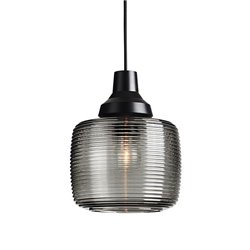 Design by Us New Wave Stripe Pendant Lamp Smoke