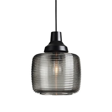 Design by Us New Wave Stripe Pendant Lamp Smoke