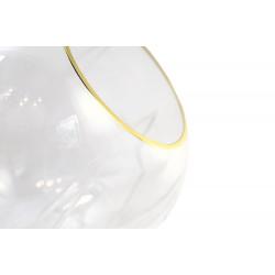 Design by Us Ballroom Diamond Cut Pendant Clear & Gold