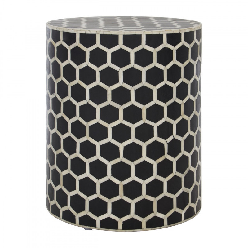 Honeycomb Bufalo Bone Side table