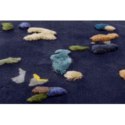 Emko Chaos Linen Rug Dark Blue
