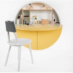 Emko Multi-functional Pill Cabinet Yellow White