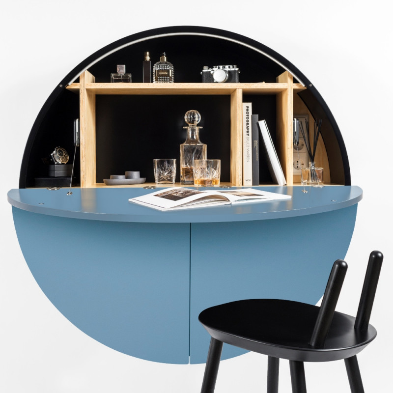 Emko Multi-functional Pill Cabinet Blue Black