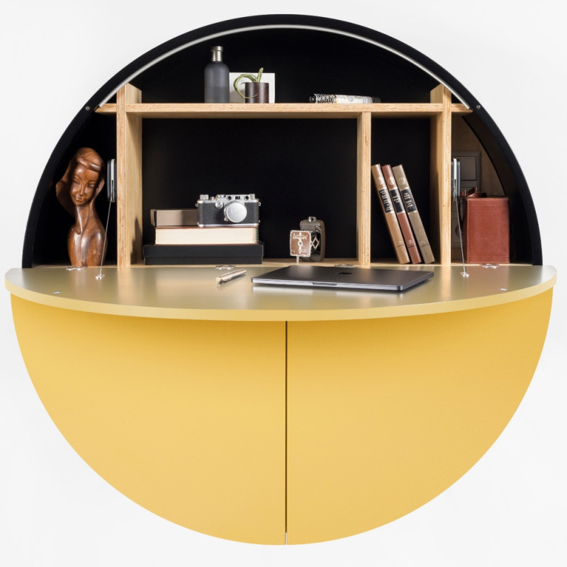 Emko Multi-functional Pill Cabinet Yellow Black