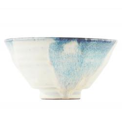 House Doctor Luca Bowl White Blue 14 CM