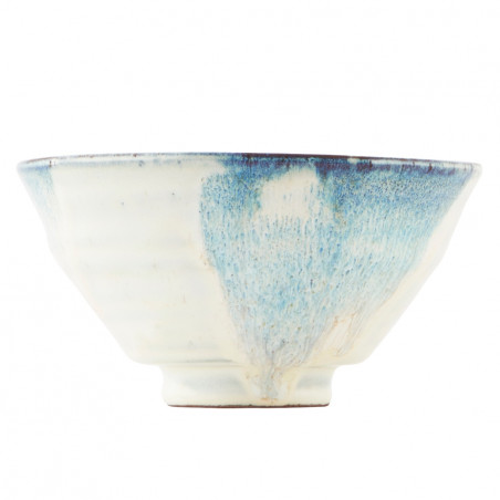 House Doctor Luca Bowl White Blue 14 CM