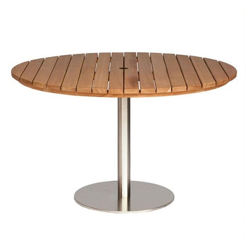 Positano Round Teak Pedestal Table - 60cm