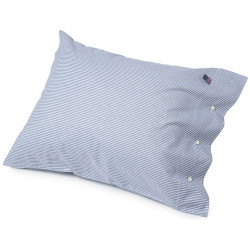 Lexington Pin Point White Navy Pillowcase 75 cm x 50 cm