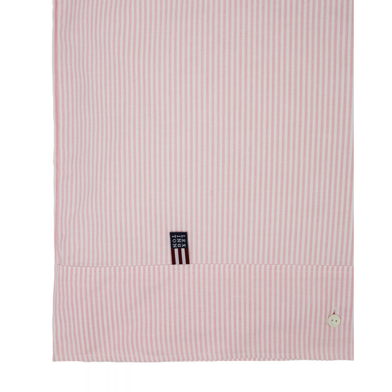 Lexington Pin Point Pink White Kingsize Duvet Cover