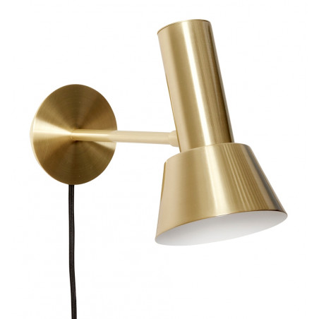 Hubsch Wall lamp Metal Brass