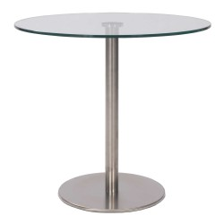 Pellucid Round Glass Table