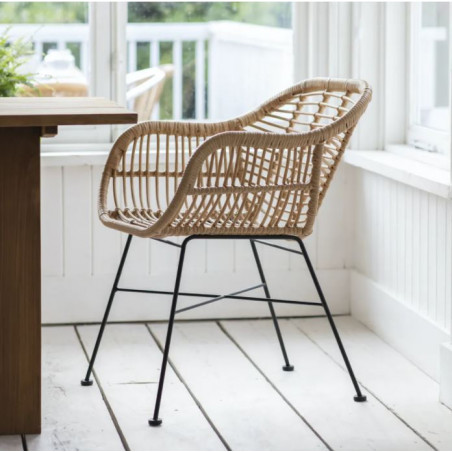 Garden Trading Set of 2 Hampstead Chairs|Weather Proof Bamboo