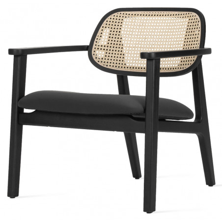 Vincent Sheppard Titus Lounge Chair Black Oak Black Seat Pad