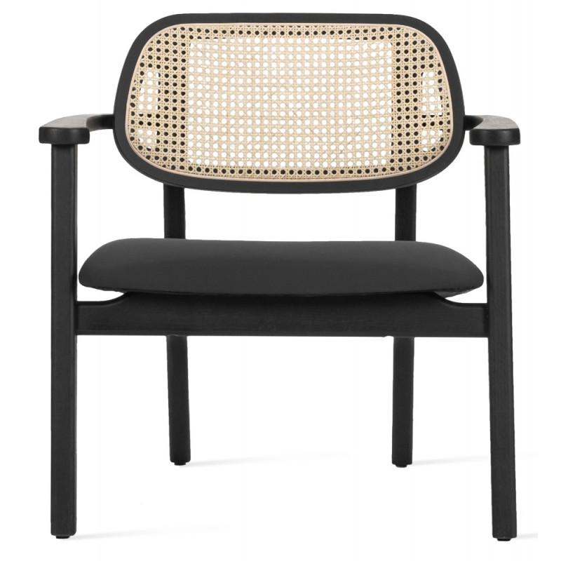 Vincent Sheppard Titus Lounge Chair Black Oak Black Seat Pad