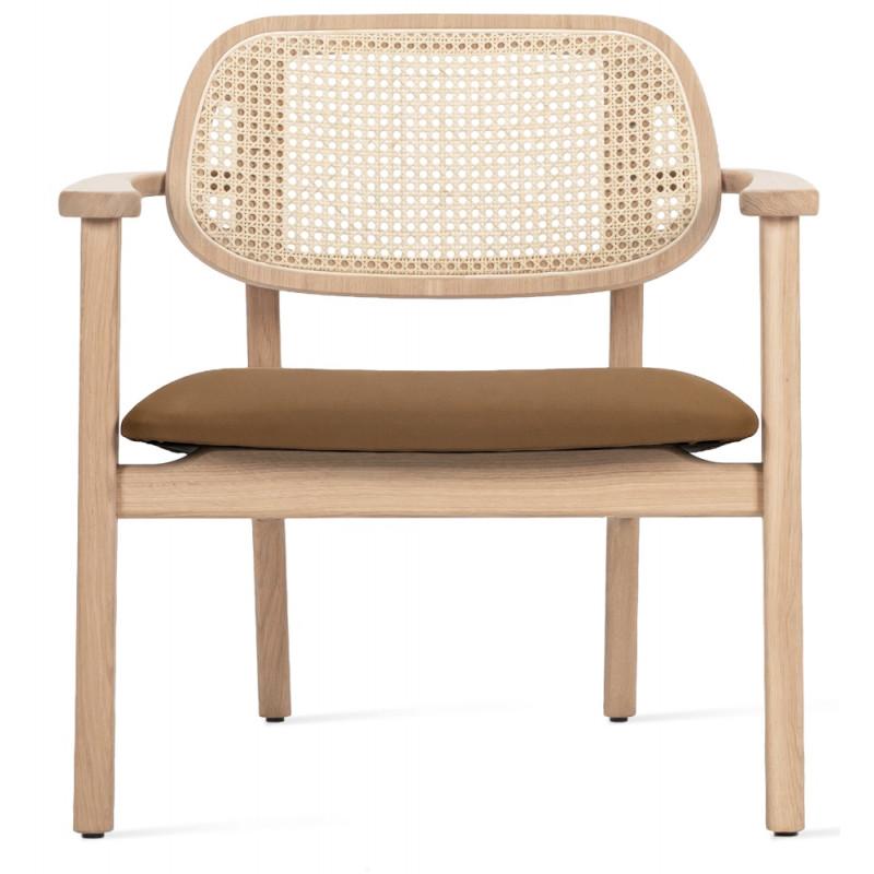 Vincent Sheppard Titus Lounge Chair Natural Oak Chestnut Seat